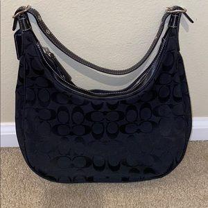 Coach small hobo purse- black